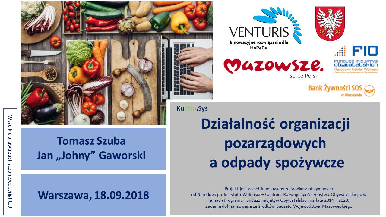 Warsztaty 'food waste' dla organizacji pozarządowych (18.09.2018)