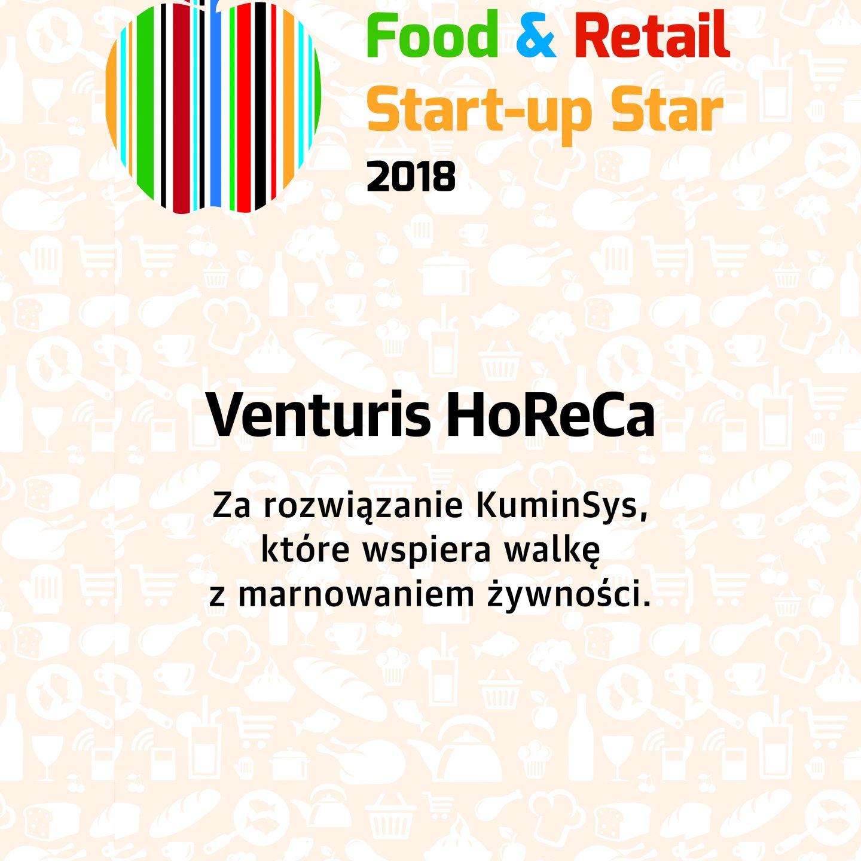 Zdobyliśmy wyróżnienie w konkursie Food&Retail Start-up Star 2018!!