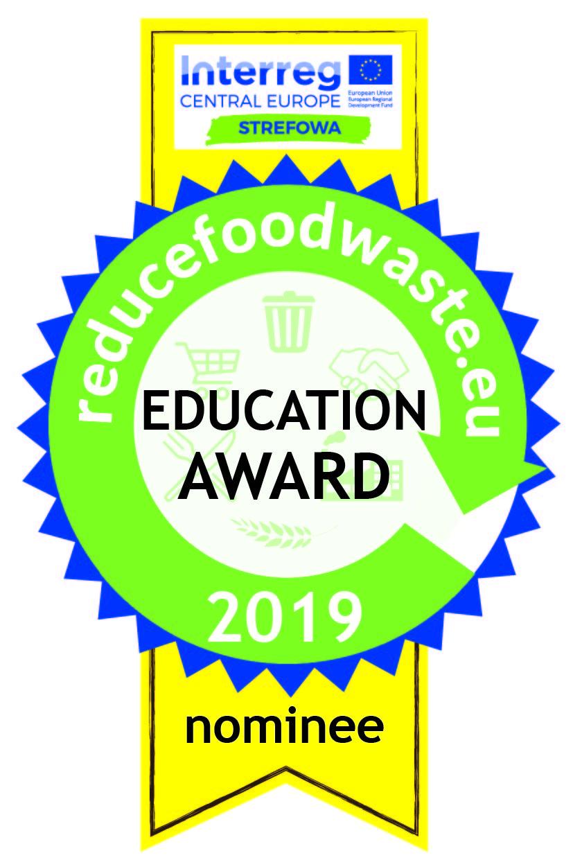 Jesteśmy nominowani w europejskim konkursie edukacyjnym dotyczącym redukcji 'food waste'.