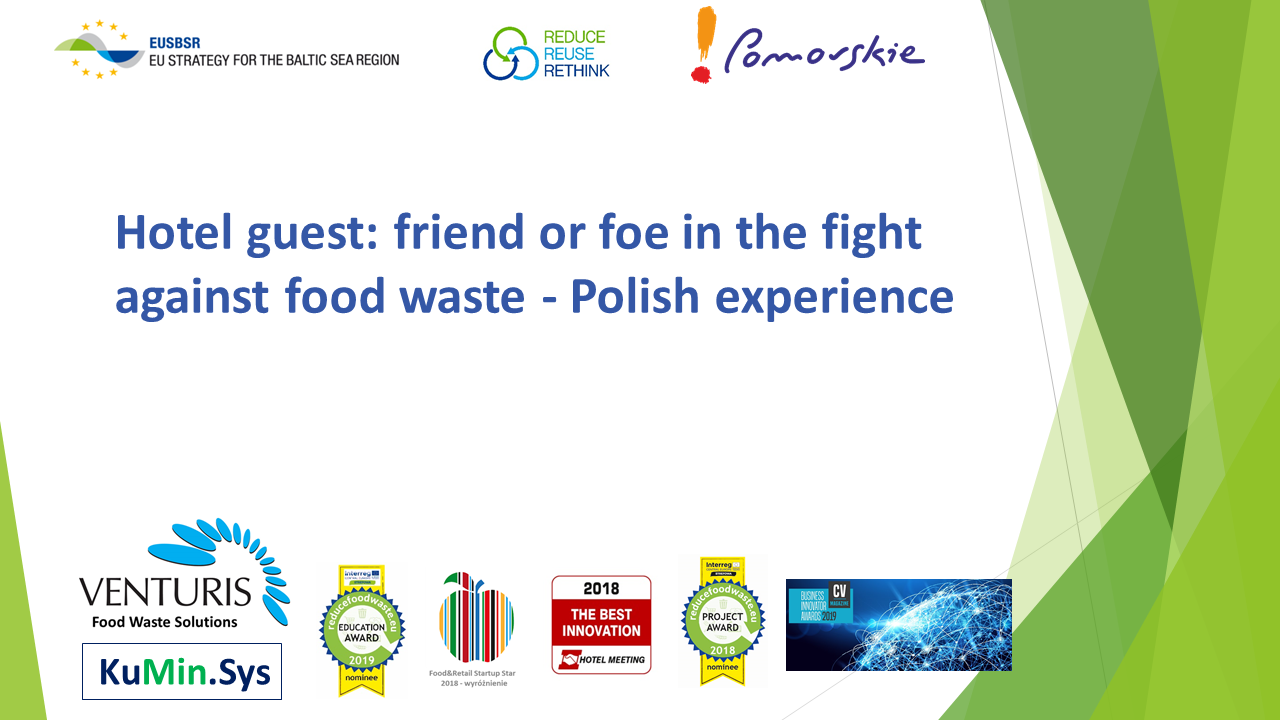 EUSBSR Gdańsk i nasza prezentacja nt. food waste w hotelarstwie w Polsce