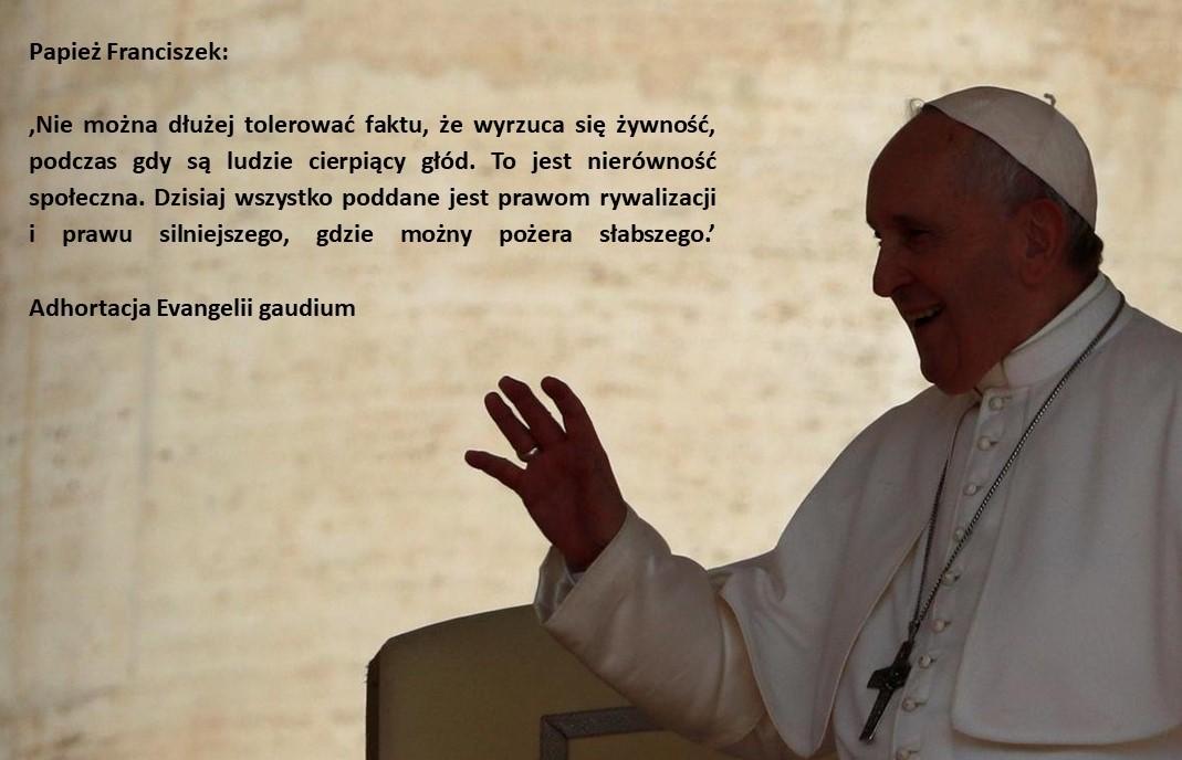 Papież Franciszek o klimacie, GOZ i niemarnowaniu jedzenia…