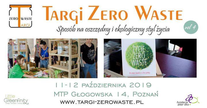 Dziś 11.10.2019 jesteśmy w Poznaniu na Targach Zero Waste