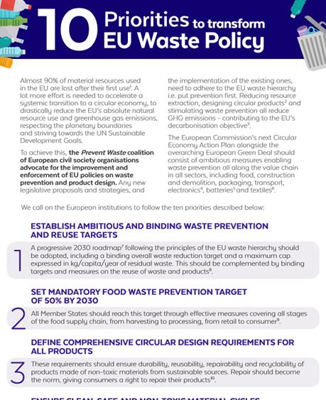 Postulaty europejskich NGO's dotyczące ograniczania odpadów