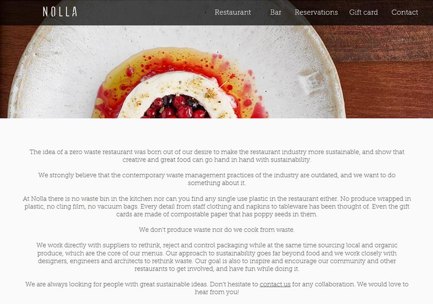 Dobry przykład restauracji zero waste – Nolla w Helsinkach!