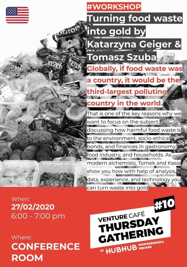 Jak food waste zamienić w złoto? Już 27.02.2020 w Warszawie!