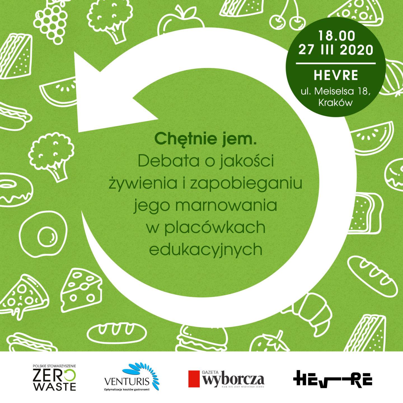 27.03 w Krakowie debata o marnowaniu jedzenia w placówkach edukacyjnych