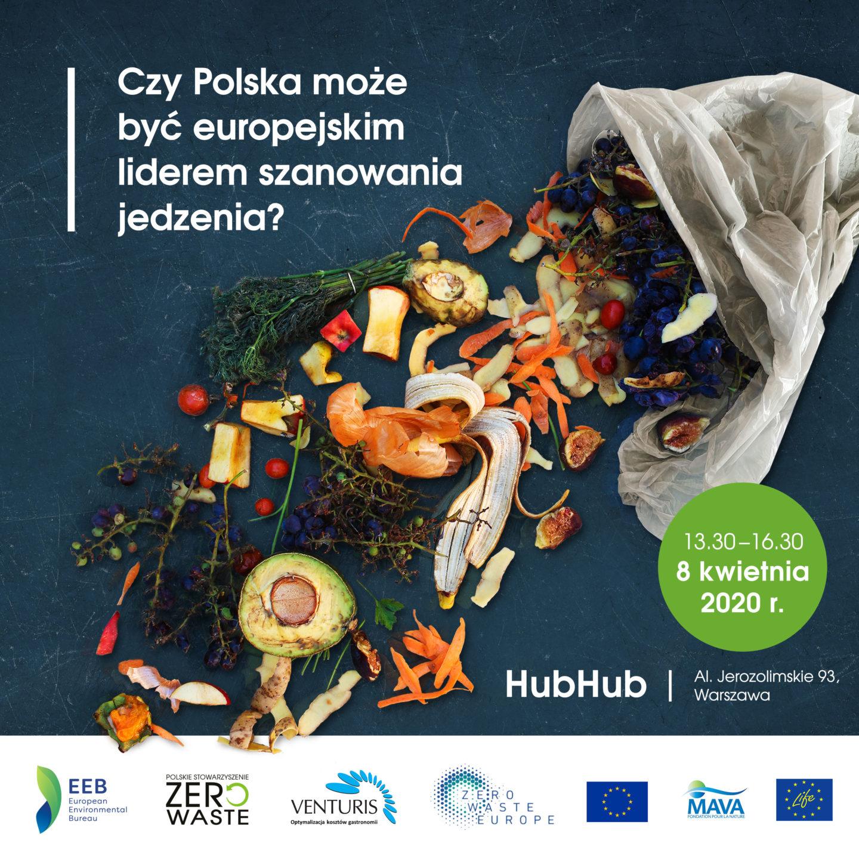 Integracja środowiska food waste w Polsce 8.04.2020 w Warszawie