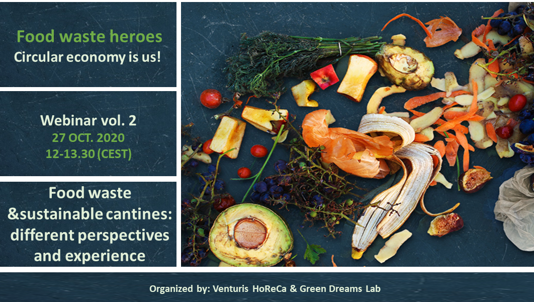 Our next webinar on food waste approaching: 27 Oct., 12-13.30 CEST