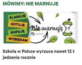 Gazeta Wyborcza o naszych projektach food waste w placówkach edu!