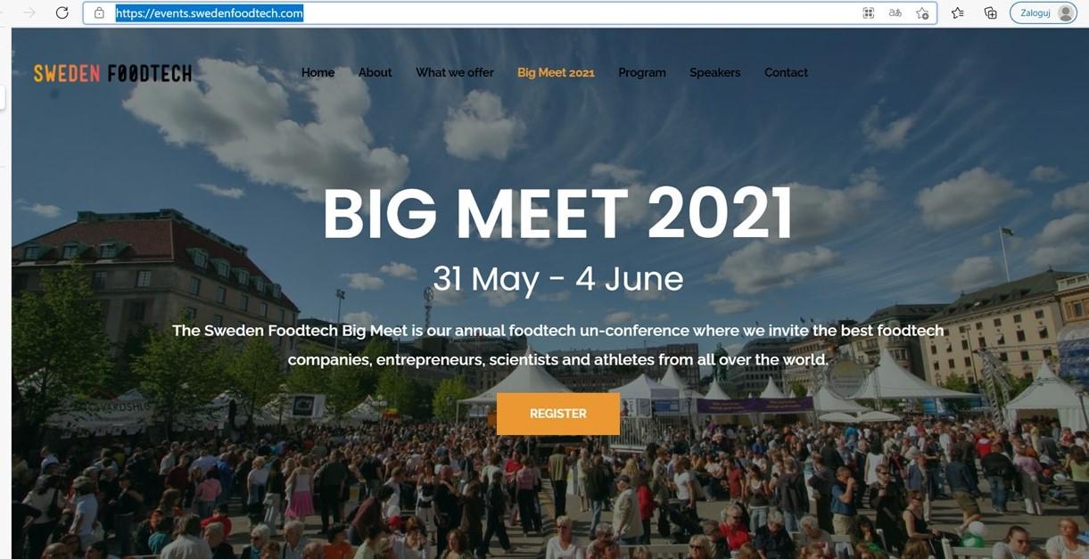 Duża foodtechowa impreza on-line ze Szwecji
